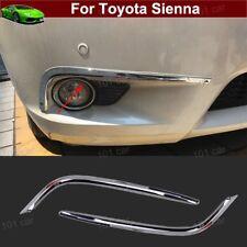 2x Chrome Front Fog light Fog Lamp Cover Trim Emblem For Toyota Sienna 2011-2018