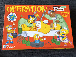 Operation Game - The Simpsons Edition Vintage Milton Bradley 2005 Complete -
