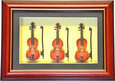 Framed Miniature Violin, Viola and Cello Music Gift