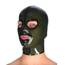 Realistic Black Latex Mask Rubber Unisex Hood  Unique Wear for Party