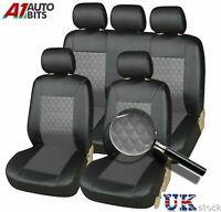 Front & Rear Citroen C1 C3 C4 C5 Car Seat Covers Leather Look Full Set Grey