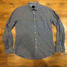 "Ganesh Check Shirt Blue Large 15.5"" 42"" Chest"