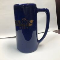 Vintage Notre Dame Quarterback Club Beer Stein,  1990, Navy with Gold Lettering