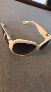Vintage Coach Sunglasses white side logo black