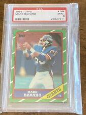 1986 Topps Mark Bavaro Rookie PSA 9 Giants TE RC