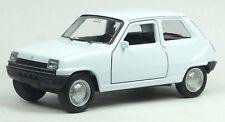 NEU: Renault R5 Klassiker Modellauto Spritzguss ca. 11cm weiß von WELLY