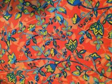Lularoe - OS leggings, One Size - Color: salmon/coral blue flowers