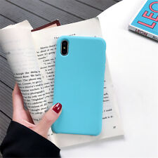 Case for Apple iPhone X XS MAX XR Soft TPU Gel Liquid Silicone Case Silky Cover
