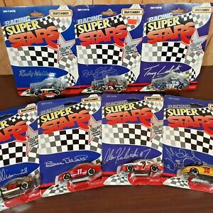 Vintage Matchbox NASCAR Super Stars 7 car collection Earnhardt Elliot Allison +