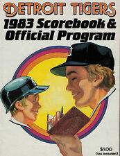 Detroit Tigers 1983 Score Book and Offical Program