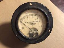 Vintage Jewell Pattern No 78 AC Milliamperes Meter Measures 0-5 MA Gauge