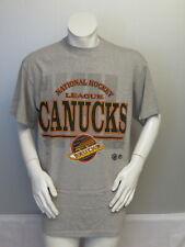 Vancouver Canucks Shirt (VTG) - Type Set Script Graphic - Men's Large