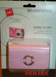 PENTAX Original PINK Leather Case LC-M2 OPTIO M & L  -NEW-