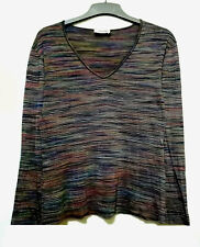 Missoni Multucolor Striped Vneck Top