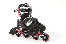 Osprey Boys Inline Skates Black White And Red Size 12-1 For Outdoor Games