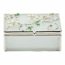 Sophia Glass & Wire Oblong Trinket Box with Dragonfly Ivory - BLWD081