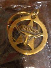 Vintage Marlboro Brass Keychain & Fob- Longhorn Star Texas  Steer Bull Head