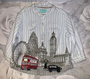 Boys Age 6-12 Months - Monsoon Long Sleeved Shirt - London Designs