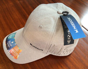 New MISSION Instant Cooling Hat- Unisex Baseball Cap Cools Wet-Lt Heather Gray