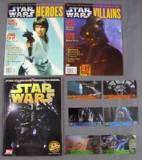 Star Wars 20th Anniversary + Heroes & Villians Poster Mag & Topps Lazer Card Set