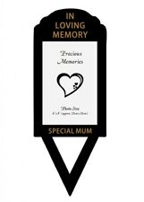 HUSBAND, MUM,NAN, SON OR DAUGHTER PHOTO/CARD GRAVE STAKE CEMETERY MEMORIAL