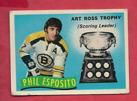 1971-72 OPC  # 247 BRUINS PHIL ESPOSITO ART ROSS TROPHY  CARD