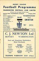 Warrington v Swinton 1962/3