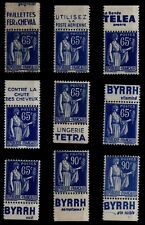9 Publici-Timbres TYPE PAIX, Neufs **/* = Cote 86 € / Lot Timbres France