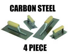 Concrete Cement Trowel Hand Finishing Trowel Edging 4 Piece Tool Set Steel New