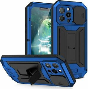 Metal Gorilla Glass Full Body Case Heavy Duty Stand Cover F iPhone 12 13 Pro Max
