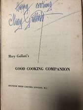 Signed mary Gallatis - Good Cooking Companion Book