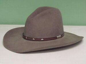 STETSON SILVER MINE 4X FELT GUS STYLE COWBOY WESTERN HAT