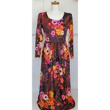 Vintage 70s Charlotta Of California By Glazier Long Floral Dress boho