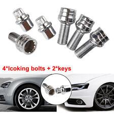 4+2 Satz Felgenschlösser Rad schlösser Schrauben VW Audi Skoda M14x1,5 Kugelbund