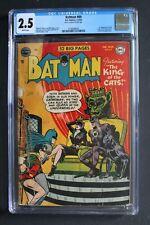 BATMAN #69 1st Karl Kyle KING OF CATS Selina CATWOMAN Sister 1952 CGC Good+ 2.5