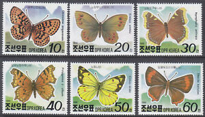 Korea (N) - 1991 - MNH - (Stamp 3180-3185) Butterflies