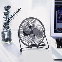 USB Desktop Fan Portable Desk Fan Cooler Small Quiet USB Powered Table Fan