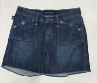 Rock & Republic Womens Denim Flap Pocket Shorts Stinger Cut Off Size 0