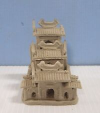 Vintage Shiwan ceramic bonsai mudman Chinese building hand made circa 1960