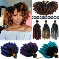 Real Kanekalon Crochet Bounce Curly Jamaican Hairpiece Jumpy Wand Hair Extension