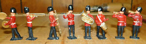 Vintage Johillco British Guardsman Band Soldiers John Hill Hollow Cast Figures