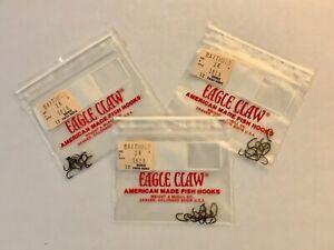 3 Packs Eagle Claw Size 14  Baitholder Barbed Hooks Total of 36 Hooks (NOS)