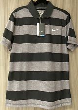 Nike Golf Shirt Grey / Charcoal Stripe Brand New Unused With Tags Size Small