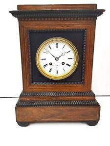 Antique French Bracket  mantel Clock by Henri Marc of Paris Rosewood case