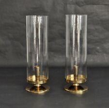 Parzinger Dorlyn Vtg Mid Century Modern Brass Hurricane Candle Holder Lamp Light