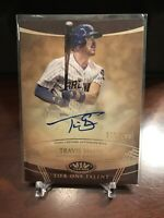 2019 Topps Tier One Talent Autographs #TTATSH Travis Shaw/299 BREWERS