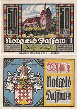 Germany 50 Pfennig 1921 Notgeld Dassow AU-UNC Colourful Banknote
