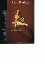 PUBLICITE ADVERTISING  1981   ALEXIS BARTHELAY    montre ultra plate