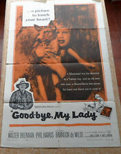 Good-Bye, My Lady movie poster, folded, original, One Sheet, 1956, Phil Harris