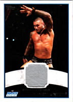 WWE Randy Orton 2012 Topps Authentic Event Worn Shirt Relic Card Grey